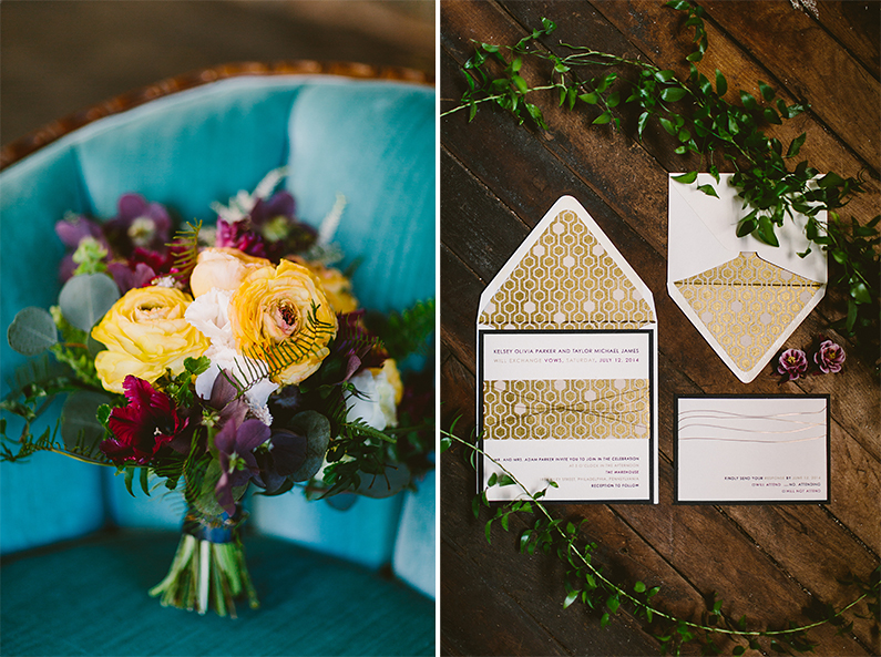 Geometric Floral Wedding Inspiration