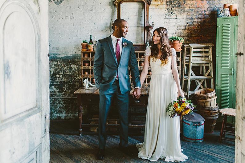 Geometric Floral Wedding Inspiration